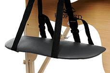 Масажный стол 2 сегмента деревянный, czarne, фото 2