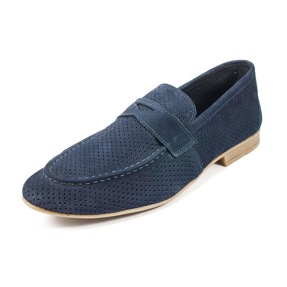 Туфли мужские MIDA 13940-12 синий нубук (45)