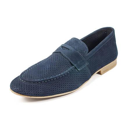 Туфли мужские MIDA 13940-12 синий нубук (45), фото 2