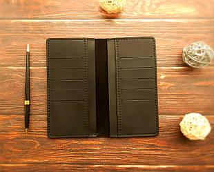 Кошелек мужской кожаный , ручная работ,  именная гравировка в подарок