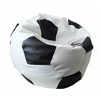Кресло мешок детское Tia в форме мяча Мяч футбольный  черный с белым