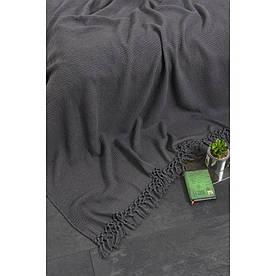 Плед-накидка Buldans - Bohem antrasit серый 130*180
