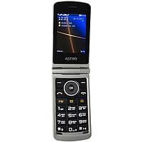 Кнопочный телефон раскладушка Astro A284 Dual Sim Red красивый мобильный телефон, фото 1