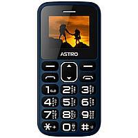 Мобильный телефон бабушкофон Astro А185 Navy громкий простой бюджетный телефон крупные кнопки и шрифт