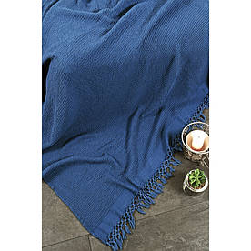 Плед-накидка Buldans - Bohem indigo синий 130*180