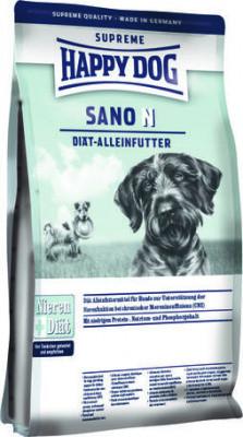 Диетический корм Happy Dog Sano N при заболеваниях печени и почек 1 кг