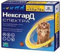 Средство от блох, клещей и гельминтов для собак NexGard Spectra 3,5-7,5 кг 1 таб