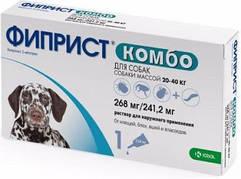 ФИПРИСТ КОМБО средства от блох и клещей для собак 20-40 кг 3х0,67мл