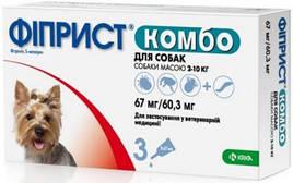 ФИПРИСТ КОМБО капли от блох и клещей для собак 2-10 кг 3х0,67мл