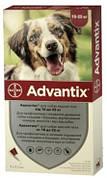 Капли Адвантикс на холку от блох и клещей и комаров для собак 10-25 кг 1 шт