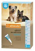 Капли Advocate для собак от блох и клещей 4-10 кг 1 шт