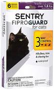 Sentry FiproGuard Краплі від бліх, кліщів і вошей для кішок і кошенят 6х0,5 мл