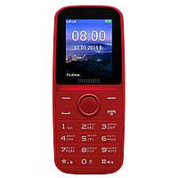 Мобильный телефон бабушкофон Philips Xenium E109 Red громкий простой бюджетный телефон крупные кнопки и шрифт