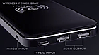 [ОПТ] Универсальный внешний аккумулятор Power Bank LENYES PW015 8000 mAh с функцией беспроводной зарядки QI, фото 6