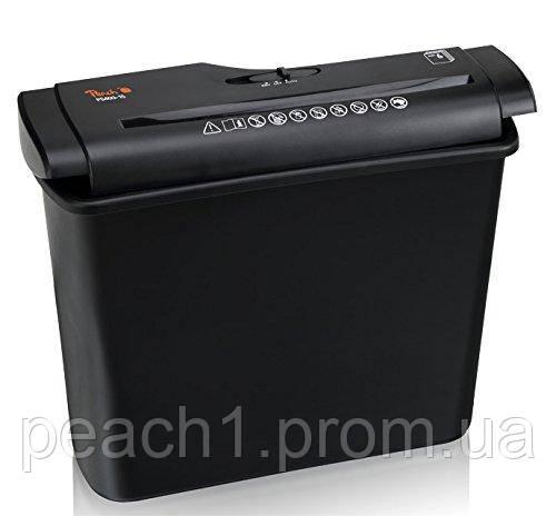 Шредер измельчитель A4 Peach   5 листов   7 литров   ширина ленты 7 мм