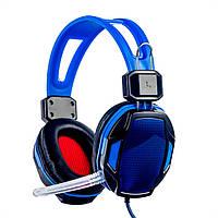 Игровые проводные наушники с микрофоном Good Idea SY833MV Pro Soyto HIFI Синий