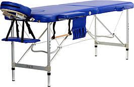 Стол, кровать, алюминиевые для массажа синие 2 секционные BODYFIT