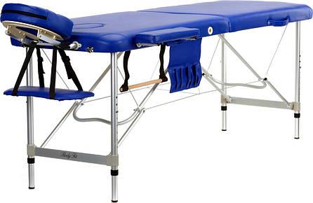 Стол, кровать, алюминиевые для массажа синие 2 секционные BODYFIT, фото 2