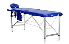 Стол, кровать, алюминиевые для массажа синие 2 секционные BODYFIT, фото 3