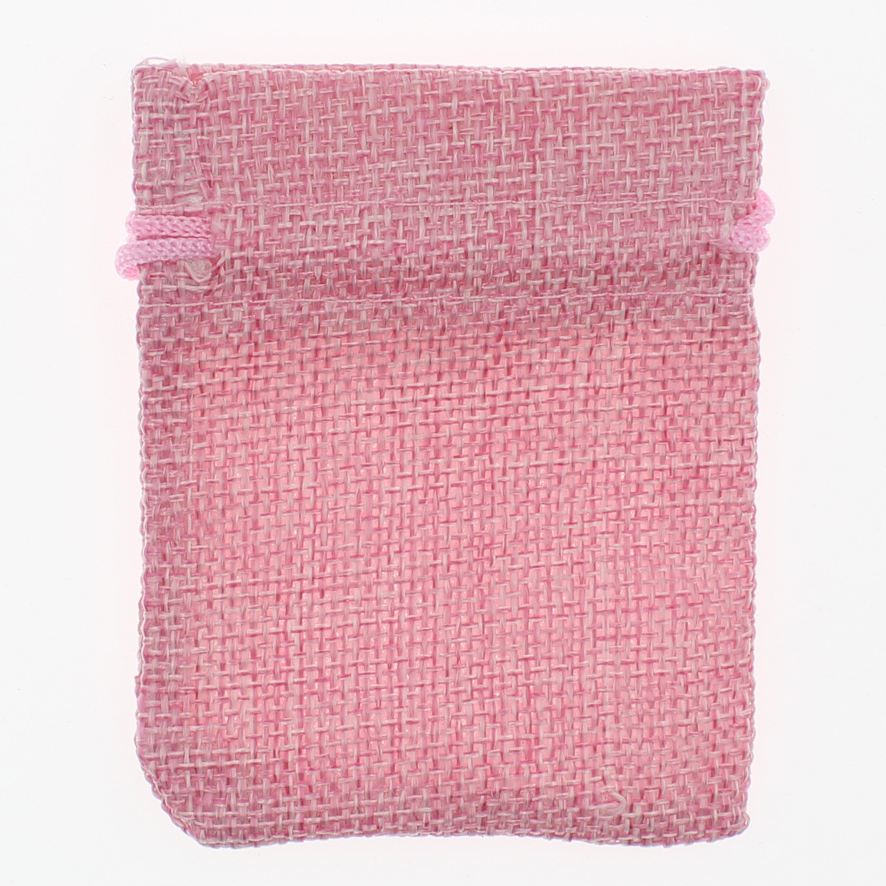 Мешочек подарочный Лён (тканевой) розовый однотонный 7/9 см 50 шт