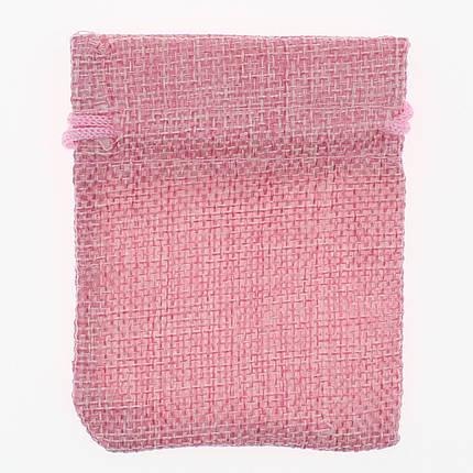 Мешочек подарочный Лён (тканевой) розовый однотонный 7/9 см 50 шт, фото 2