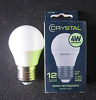 Лампа светодиодная Crystal 4W E27 4000K G45 (сфера), фото 1