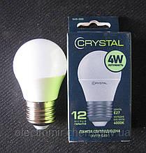 Лампа світлодіодна Crystal 4W E27 4000K G45 (сфера)
