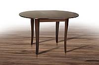 Стол обеденный круглый раскладной Дукат темный орех, фото 1
