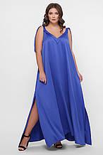 GLEM 0302 Платье пляжное синее