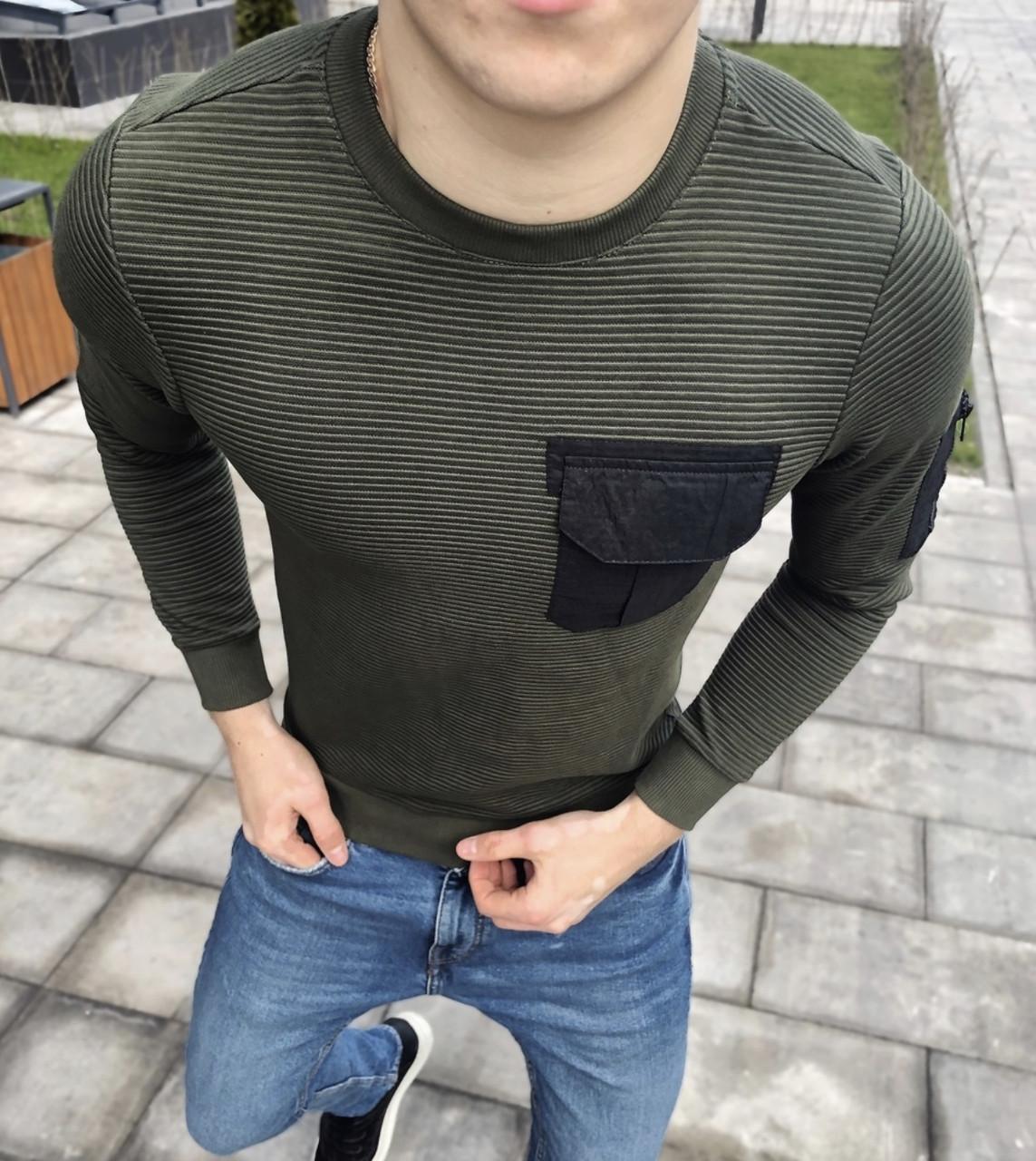 Мужская кофта с карманом