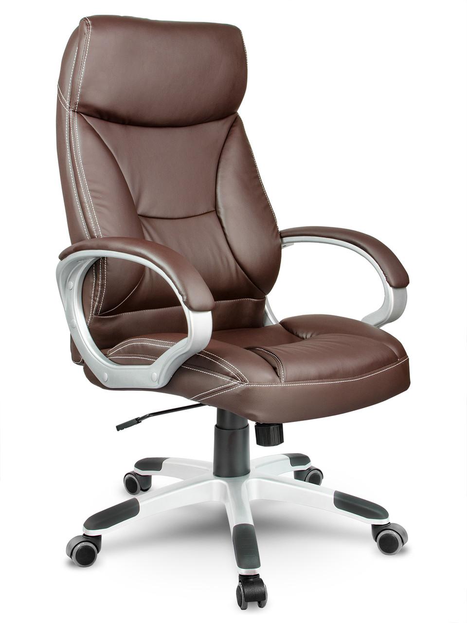Кресло стул офисный кожаный Sofotel EG-223 коричневый