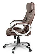 Кресло стул офисный кожаный Sofotel EG-223 коричневый, фото 3