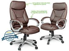 Кресло стул офисный кожаный Sofotel EG-223 коричневый, фото 2