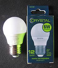 Лампа світлодіодна Crystal 6W E27 4000K G45 (сфера)