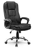 Кресло стул офисный кожаный Sofotel EG-230 черный