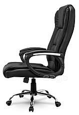 Кресло стул офисный кожаный Sofotel EG-230 черный, фото 2