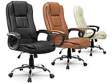 Кресло стул офисный кожаный Sofotel EG-230 черный, фото 3
