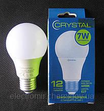 Лампа світлодіодна Crystal 7W E27 4000K A60 (сфера стандарт)