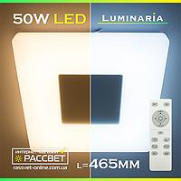 Светодиодный светильник с пультом ДУ LUMINARIA QUADRON 50W S-470-WHITE, фото 1