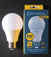 Лампа светодиодная Crystal 8W E27 3000K A60 (сфера стандарт), фото 1