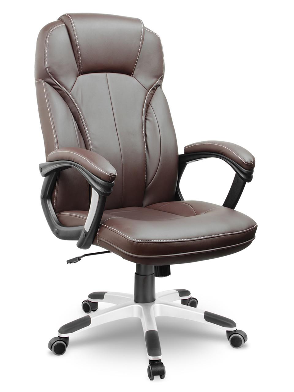 Кресло стул офисный кожаный Sofotel EG-222 коричневый