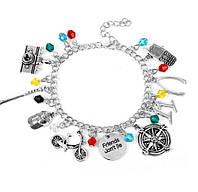 Женский браслет на руку с шармами На Счастье MQCHUN Серебристый