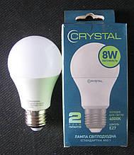 Лампа світлодіодна Crystal 8W E27 4000K A60 (сфера стандарт)