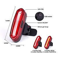 Фонарь габаритный задний (стекло) BC-TL5434 LED, USB, (красный)