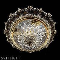 Кришталевий світильник стельовий CHARLIZE dia 390 ANTIQUE BRASS Artglass