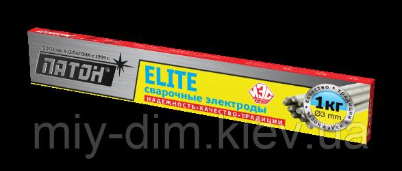 """Електроди """"ПАТОН"""" ELITE ф3 мм, 1 кг"""