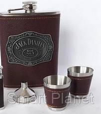 Подарочный Набор 5 в 1 Jack Daniel's (универсальный нож,фляга,рюмки и лейка), фото 2