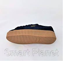 Женские Кроссовки PUMA Слипоны Синие Мокасины (размеры: 36,37,38,39,40), фото 3
