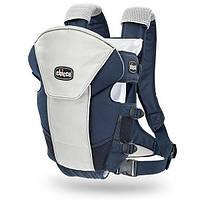 Ерго нагрудна рюкзак-кенгуру для немовлят Chicco Ultrasoft Magic Синій з сірим (1120710703)