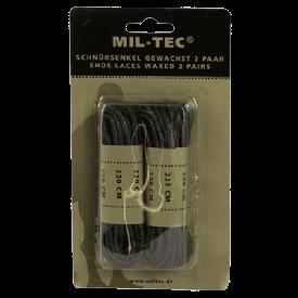 Шнурки вощеные Mil-Tec 220 см черные